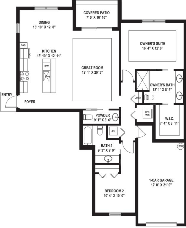 Diagram of Featured Floor Plan - The Arena Floor Plan