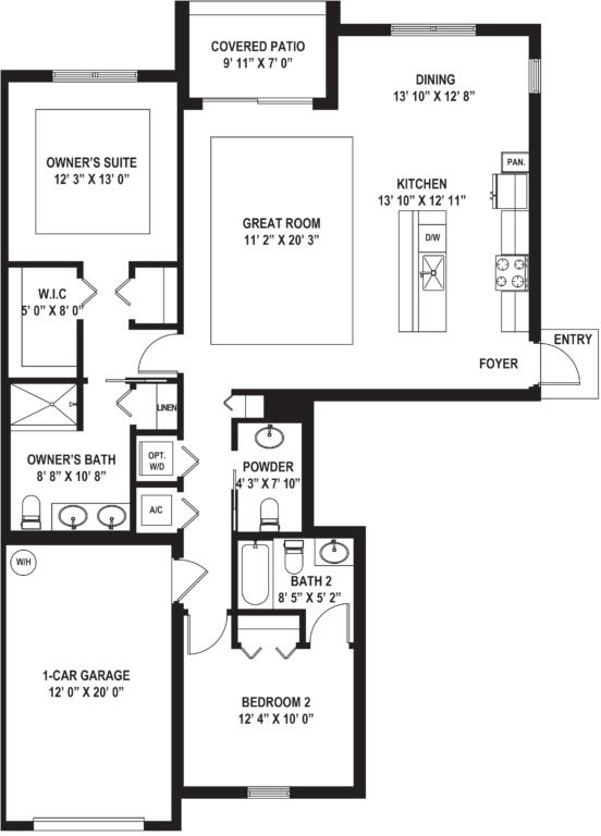 Diagram of Costa (C) Floor Plan