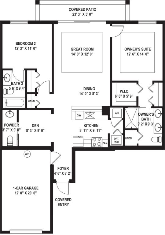 Diagram of Marea (E) Floor Plan